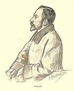 Dibujo de Auguste Vaillant de perfil.