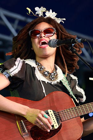 Valerie June - June performing at Byron Bay Bluesfest, 2014