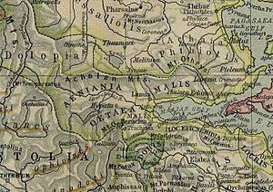 Ainis - The valley of Spercheios with Ainis (Aeniania).