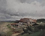 Vasilyev Peasant yard by a brook 1869 1870 grm.jpg