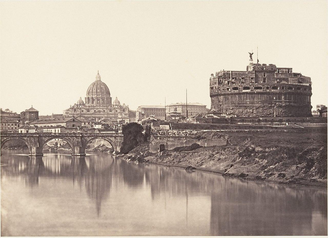 Veduta di Castel St Angelo. S. Pietro MET DP155021.jpg