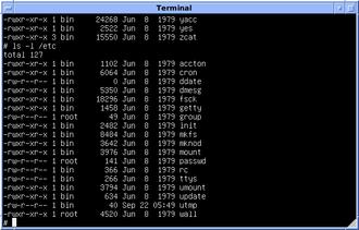 Init - Image: Version 7 UNIX SIMH PDP11 Etc