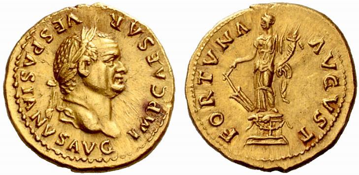 Vespasian aureus Fortuna