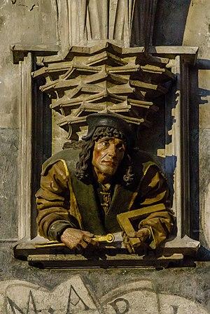 Anton Pilgram - Anton Pilgram - possible self-portrait. Relief in St. Stephen's Cathedral, Vienna.