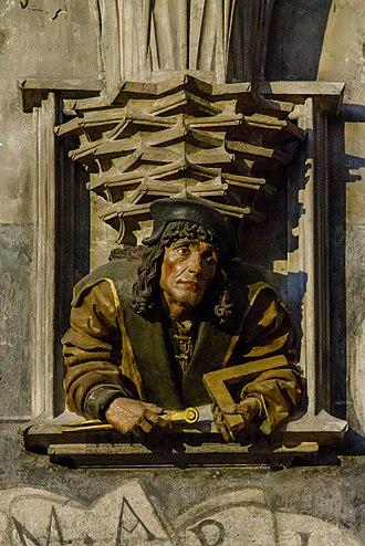 Anton Pilgram - Anton Pilgram – possible self-portrait. Relief in St. Stephen's Cathedral, Vienna.