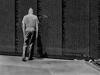 Culture of the United States Marine Corps - Marine at the Vietnam Veterans Memorial