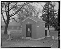 View from northwest - Chanute Air Force Base, Utility Vault, Galaxy Street, Rantoul, Champaign County, IL HABS ILL,10-RAN.V,1AF-1.tif