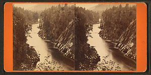 West Branch Penobscot River - West branch at Ripogenus Gorge in the 1870s