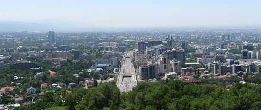View of Almaty from the hills