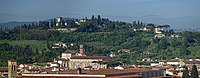 View of Chiesa di St.Maria del Carmine and Bellosguardo Hill from Giotto's Bell Tower. Florence, Italy.jpg