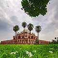 View of Humayun Tomb from under a flower tree.jpg
