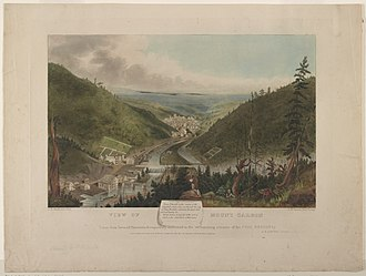 Mount Carbon, Pennsylvania - Painting of Mount Carbon, Pennsylvania by John Rowson Smith engraved by his father John Rubens Smith