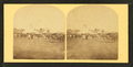 View of a fairgrounds(?), showing people and large tents, from Robert N. Dennis collection of stereoscopic views.png
