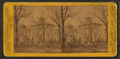 View of people in yard of building that may be a home, by P. B. Greene.png