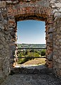 View out of the East walls of the Devín Castle (Bratislava, Slovakia) julesvernex2.jpg
