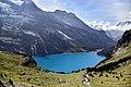 View over Oeschinensee and surrounding mountains near Kandersteg, Switzerland.jpg