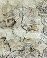 Villa le brache, ext, loggia, affreschi tardogotici con storie degli argonauti 10 drago 1.jpg