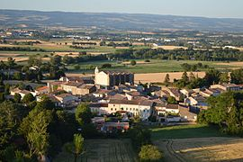 A general view of Villeneuve-la-Comptal