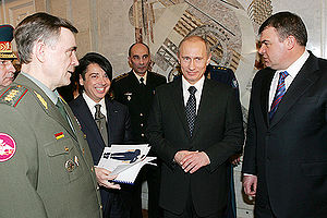 Valentin Yudashkin - Yudashkin with then President of Russia on 28 January 2008.