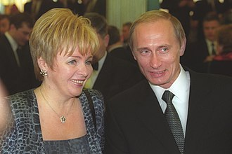 Lyudmila Putina - Lyudmila Putina with Vladimir Putin after his inauguration on 7 May 2000.