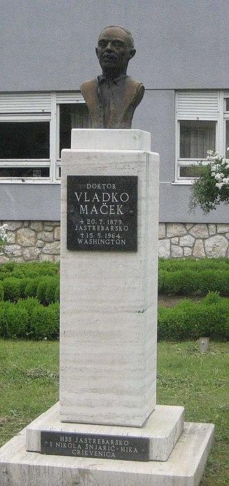 Jastrebarsko - Vladko Maček memorial in Jastrebarsko