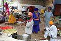 Volunteers cooking at Anandpur Sahib Gurdwara Vaisakhi langar, Sikhism in India.jpg