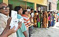Voters standing in a queue to cast their votes at a polling booth, during the fifth phase of West Bengal Assembly Election, at Baruipur (west), South 24 Pargana, West Bengal on April 30, 2016.jpg