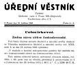 Vynucený název církve byl v květnu 1940 zveřejněn v Úředním věstníku.jpg