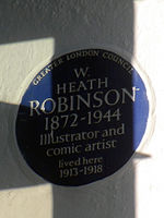 W. HEATH ROBINSON 1872-1944 Illustrator and comic artist lived here 1913-1918.jpg