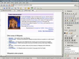 HTML editor - Amaya 10 HTML editor