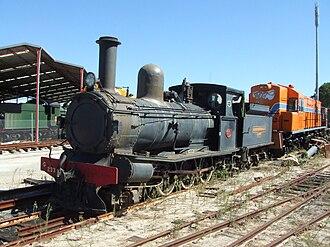 Rail Heritage WA - G233 at the Western Australian Rail Transport Museum in April 2006