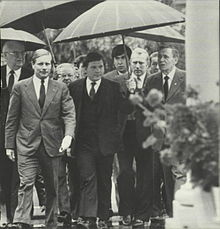 Martin escorting Soviet Foreign Minister Gromyko to meeting with Ronald Reagan