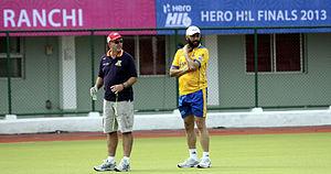 Punjab Warriors - Punjab Warriors' coach Barry Dancer (left) with Jagbir Singh (right).