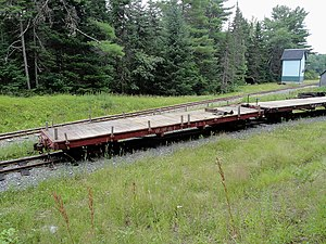 Wiscasset, Waterville and Farmington Railway - Image: WW&F Flatcar 118