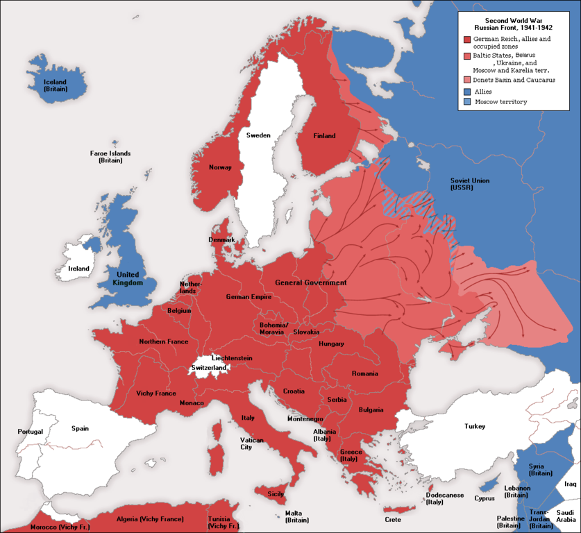 File:WWII Europe 1941-1942 Map EN.png - Wikimedia Commons