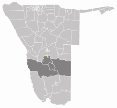 Karte Rehoboth Stadt (West) in Namibia