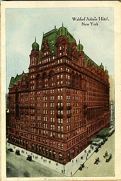 The Hotel After Addition Of Much Larger Astoria Wing 1915
