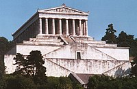 The Walhalla temple above the Danube near Regensburg, Germany.