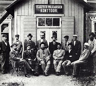 Grand Duchy of Finland - Managers and directors of Walkiakoski Oy, a sulphate pulp mill in Valkeakoski, 1899