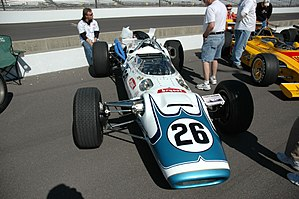 Rodger Ward - The Lola-Offy that Ward drove in his final Champ Car race, the 1966 Indy 500