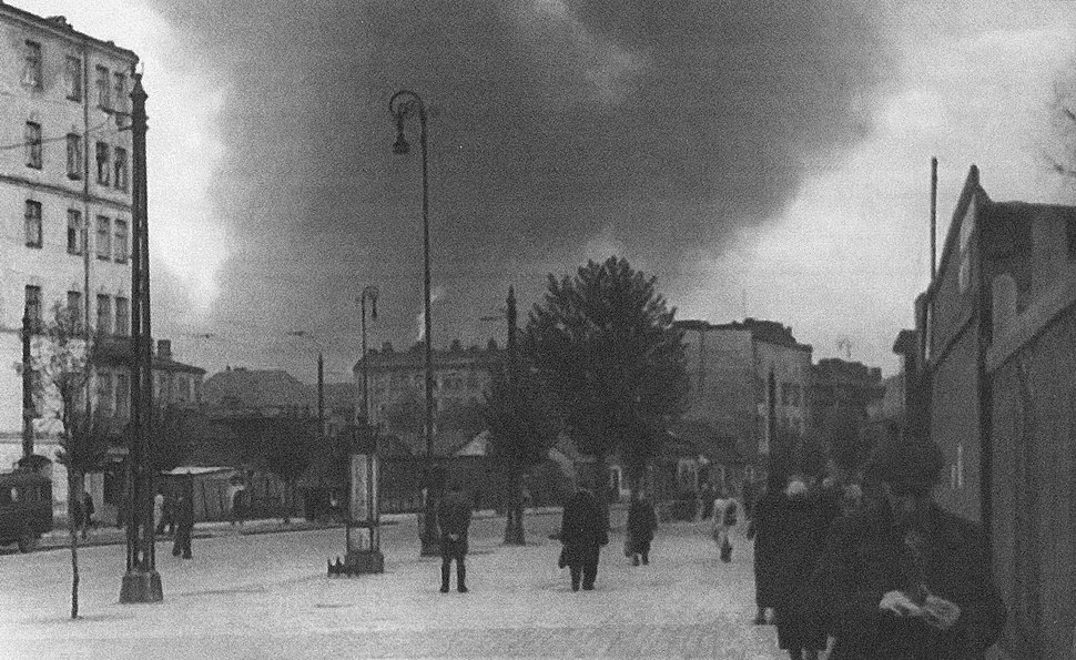 Warsaw Ghetto Uprising view from Wolska Street