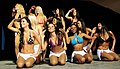 Washington Redskins cheerleaders on stage.JPG