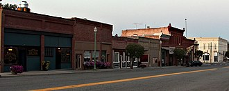Waterville, Washington - Downtown Waterville pictured in 2018