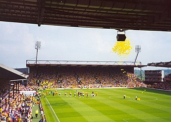 Watford fans at Vicarage Road, on the last day of the 1999-2000 season Watford v Coventry, Vicarage Road, 2000.jpg