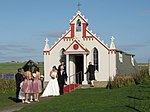 Wedding at the Italian Chapel. - geograph.org.uk - 1511133.jpg