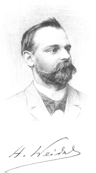 Hugo Weidel - Image: Weidel, Hugo (1849 1899)