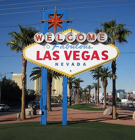 Gambling erupted once more following a recession in the early 20th century, helping to build the city of Las Vegas. Welcome to fabulous las vegas sign.jpg