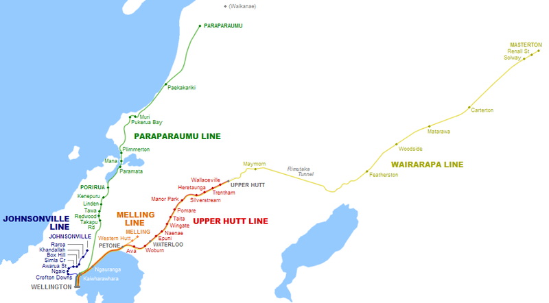 I made a map to show how miserable our trains are in New Zealand ...