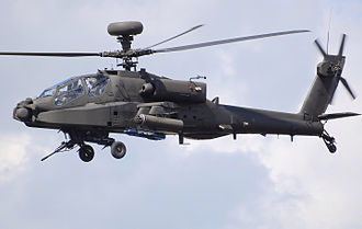 Westland Helicopters - UK Army Air Corps Westland Apache WAH-64D Longbow displays at a UK airshow