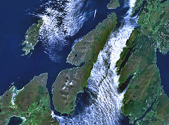 Jura, Scotland - Satellite picture of Jura